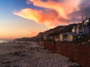 Magical Sunset at Crystal Cove Cottage