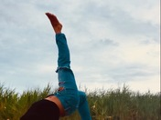 Yoga on the beach at Hither Hill State Park