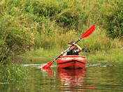 kayak after storm