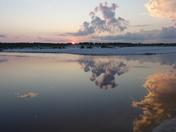 Deer Lake Outfall Reflecting Sunrise