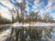 Huron River Winter Sunburst