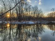 Huron River Amazing Sunset