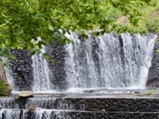 Spillway Falls Framed with Folage