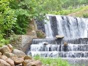 Douthat Lake Spillway Falls