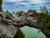 Arch Rock over looking lake