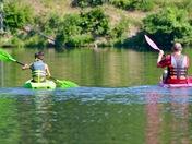 Son & Dad Race for Shoreline