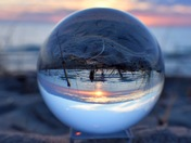 Lens Ball Sunset