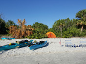 Spoil islands kayak camping