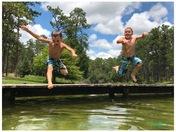 Swimming at Krull Lake