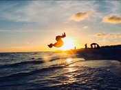 Backflip on the beach