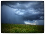 Storm over prairie