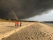 Double rainbow storm at Cape San Blas