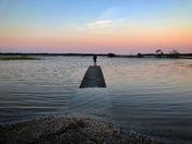 Stranded on a flood tide