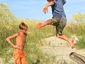 High Jumps at the Beach
