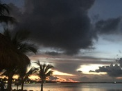 Winter evening in Florida Keys