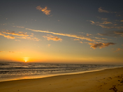 Sunrise from Gamble Rodgers Beach