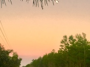 Sunset & Moon over Seabranch State Park