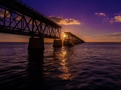 Bahia honda sun setting