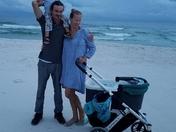 The newborn on the beach