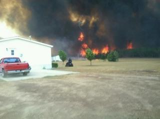 Fire at Gladewater, TX