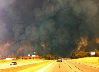 Fire in Bastrop 9/5/2011