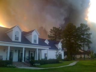 Wildfire in Montgomery County Texas