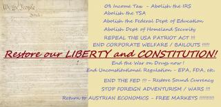 Restore our Liberty and Constitution