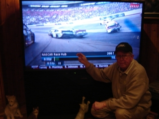 Love NASCAR (beside the TV)