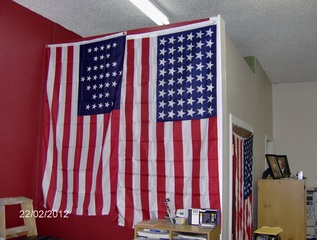 Historic Flags at Local Shop