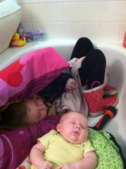 Kids sleeping in bathtub during Texas nightmare!