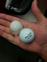 Golf ball size hail.