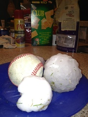 Texas Sized Hail in Rockwall