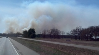Fire Near Camp Riley, MN