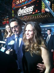 Robert and Susan Downey at The Avengers Premiere