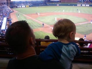 My Son't First Baseball Game