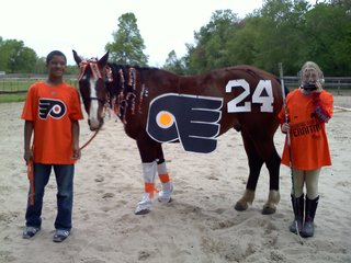 'Horsin Around' with 'Flyers' Pride!