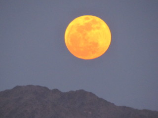 Supermoon over the Mohave Desert