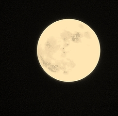 Supermoon in Durant, Florida