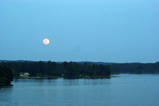 Super Moon Over Lake Martin