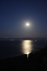 Supermoon over the Sea of Galilee
