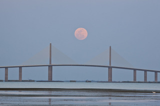 Supermoon Over Tampa Bay