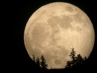 Supermoon 2012 Entiat Washington