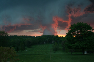 Cloud formations over Manor Valley Golf Course, Export, PA