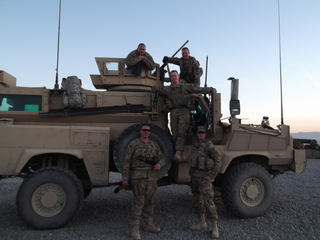 On patrol in Khost Province, Afghanistan