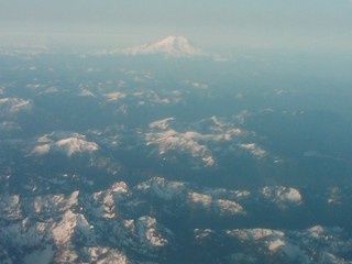 6 am flight over the cascades