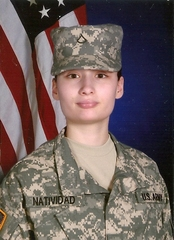 Lizzie Natividad joins US Army, Ft Sill, Oklahoma, USA