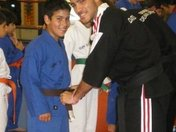 Awarding my brother his brown belt in Kickboxing