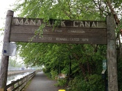 Biking along the Manyunk Canal Tow Path