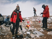 On the summit of Aconcagua - the Western Hemisphere's highest peak