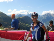 Tour de France- cycling up Alp d'huez